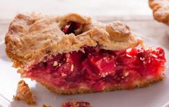 We're rhubarb pie purists.