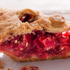 We're rhubarb pie purists.