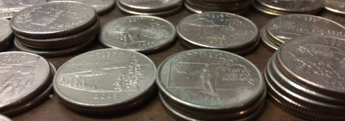Statehood quarters, alphabetically.